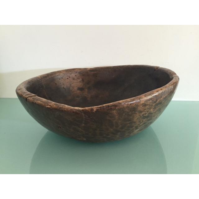 Image of Primitive Wood Carved Bowl