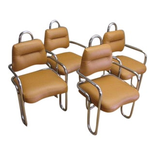 1960s Vintage Kwok Hoi Chan Dining Chairs by Steiner, France - Set of 4