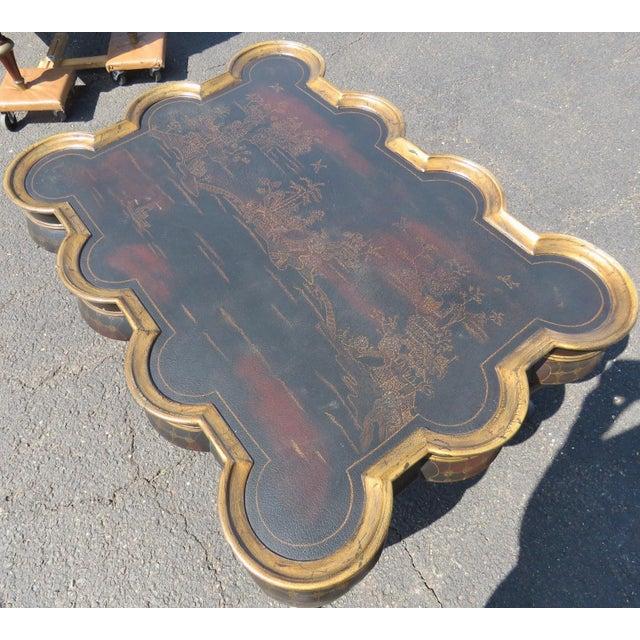 Image of Chinoiserie Ebonized & Gilt Coffee Table