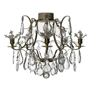 Baroque 5 Arm Brass Flower Bathroom Chandelier