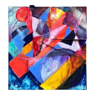 """Tom Holland """"Pond #65"""" Abstract Expressionist Mixed-Media Piece"""