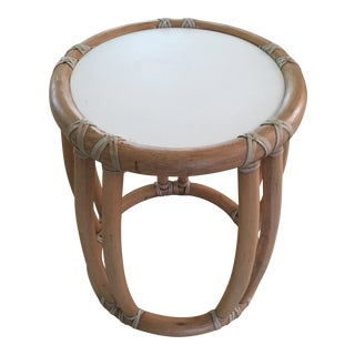 McGuire Cracked Ice Small Rattan Occasional Table