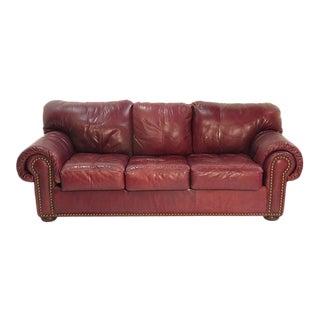 1980 Leather Sleeper Sofa