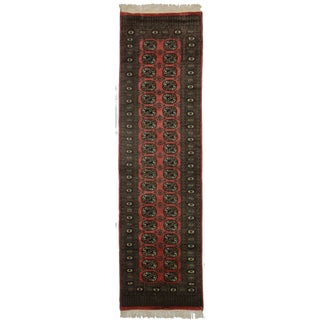 RugsinDallas Vintage Hand Knotted Bokhara Runner - 2′7″ × 9′2″