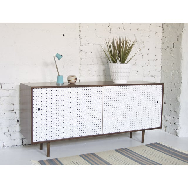 Hand Crafted Walnut Credenza - Image 4 of 6