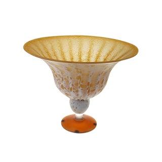 Large Golden Murano Vase