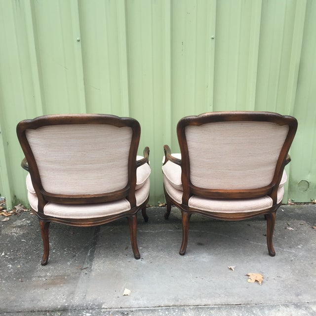 Louis XVI Fauteuil Bergere Chairs - a Pair - Image 4 of 11