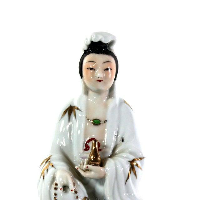 Image of 1900s Quan Yin Porcelain Figurine, Signed