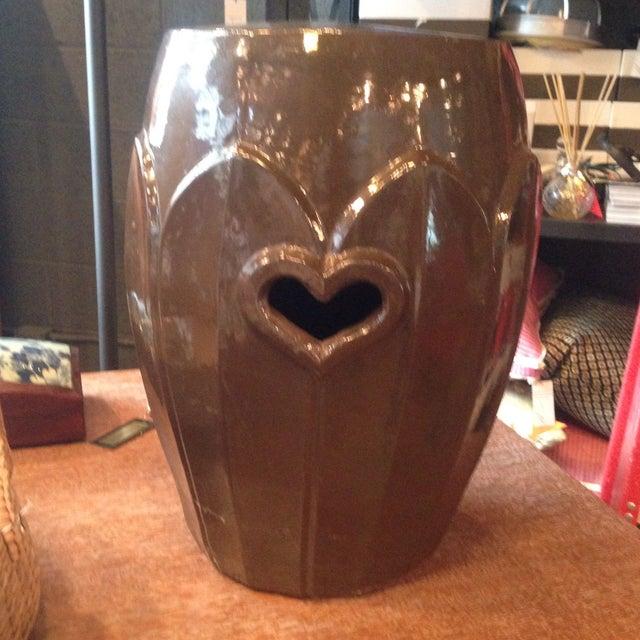 Image of Ceramic Brown Garden Stool