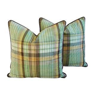 Scalamandre Le Cirque Plaid Pillows - A Pair