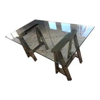 William Sonoma Mason Glass Top Desk
