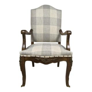 19th C. French Walnut Arm Chair
