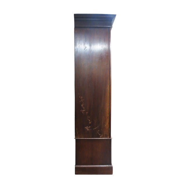 Inlaid Armoire W/ Mirrored Doors - Image 4 of 10