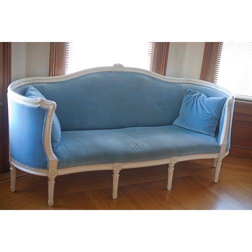 Light Blue French Neoclassical Sofa Chairish
