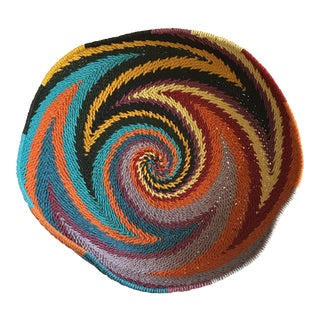 Boho Swirled Large Serving or Decor Basket