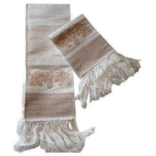 French Linen Hand Towels - A Pair