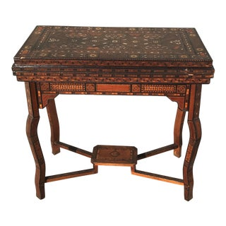 Antique Syrian Inlaid Game Table