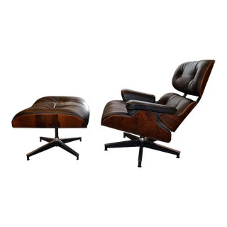Vintage Eames for Herman Miller Rosewood Lounge Chair & Ottoman - A Pair