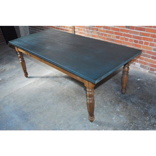 Zinc Topped Farm Table - Image 2 of 11