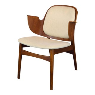 Hans Olsen Lounge Teak & Oak Lounge Chair Model 107 for Bramin Mobler, Denmark, 1950s