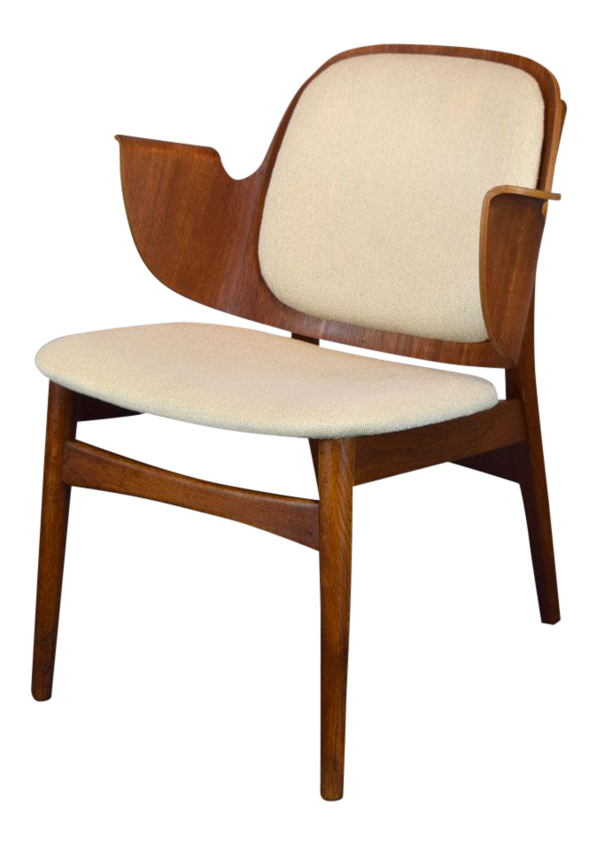 Hans Olsen Lounge Teak U0026 Oak Lounge Chair Model 107 For Bramin Mobler,  Denmark,