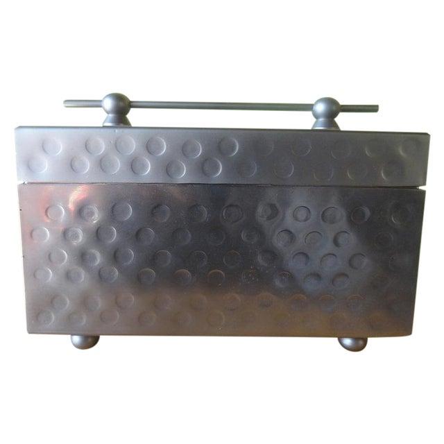 Image of Sleek Miniature Silver Jewelry Box