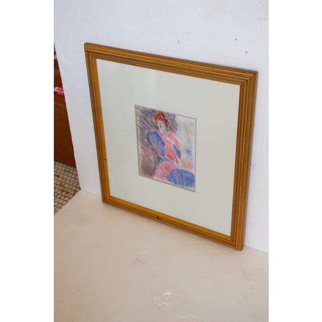 Framed Chalk Pastel Portrait by Dianne Powell - Image 3 of 6