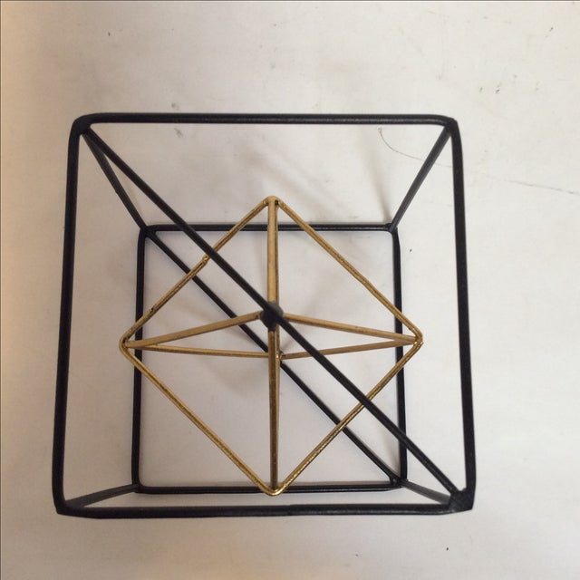 Image of Geometric Metal Cube - Pair