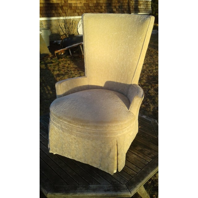 Vintage Highback Mohair Chair - Image 6 of 7