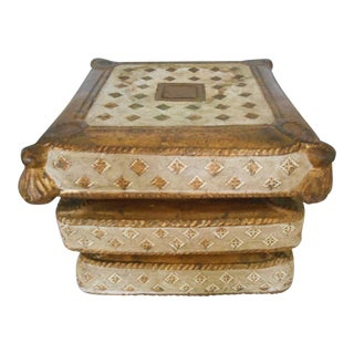 French Regency Gold Garden Stool Seat