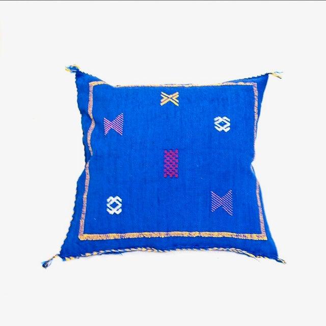 Cerulean Blue Throw Pillows : Cobalt Blue Sabra Throw Pillow Chairish