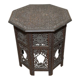 Carved Anglo Indian Tea Table