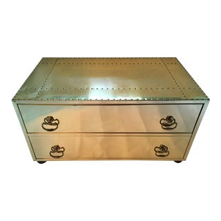Vintage Sarreid Brass Trunk/Coffee Table