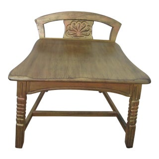 Exotic Handmade Carved Bench