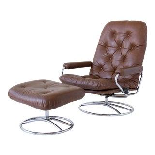 Ekornes Stressless Chair & Ottoman Set