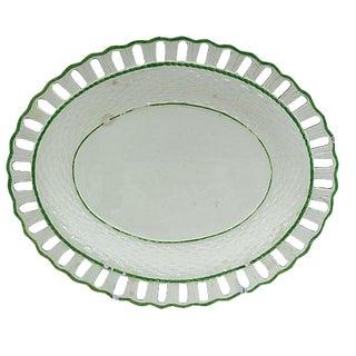 Circa 1760 Antique Creamware Pierced-Edge Dish