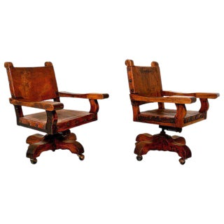 Pair of Mexican Office Chairs