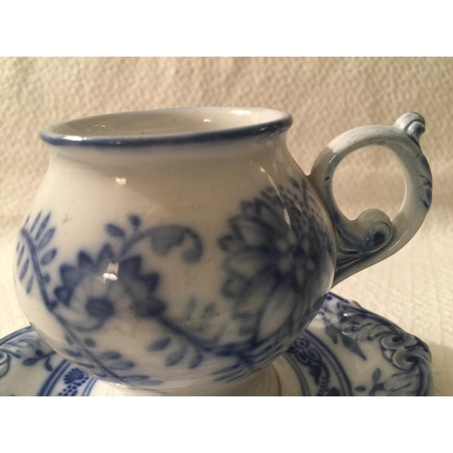 Villeroy & Boch Blue & White Cup & Saucer - A Pair - Image 3 of 7