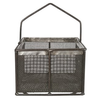 Metal Mesh Basket With Handle