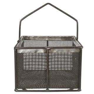 Metal Mesh Basket With Handle