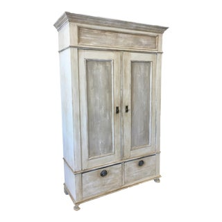 Antique Swedish Painted 2 Door Cabinet