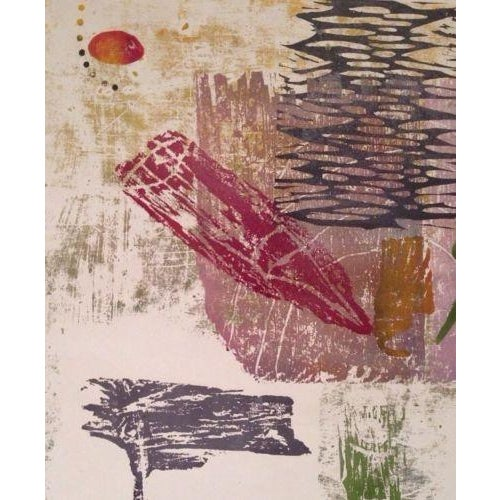 Image of Vintage Abstract Monotype Bernard Kroeber
