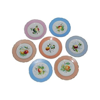 Hand Painted Fruit Plates - Set of 7