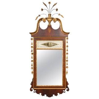 Federal Style Mahogany Parcel Gilt Mirror