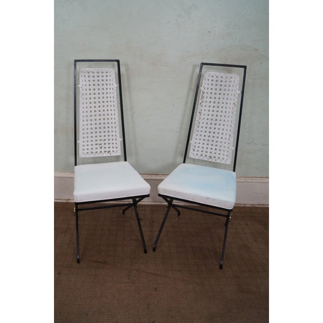 Vintage Hollywood Regency Directoire Dining Chairs - Image 2 of 10