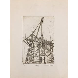 "Howard Koslow Original Etching Titled ""Gantry"""