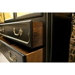 Image of French Louis XV Style Ebonized Cabinet on Chest