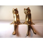 Image of Vintage Brass Frogs - A Pair