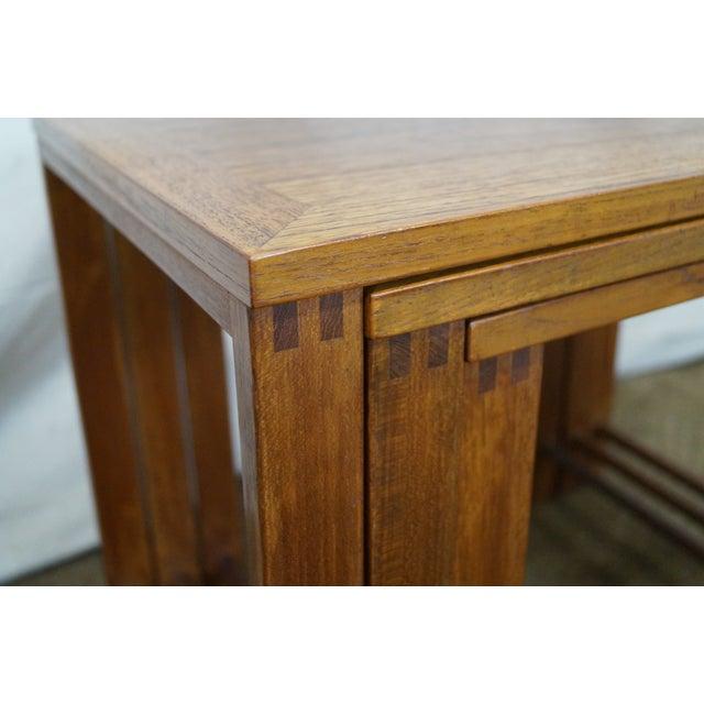 Image of Danish Modern Teak Nesting Tables - Set of 3