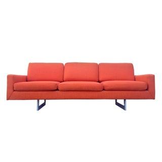 Mid-Century Modern Bright Orange Sofa